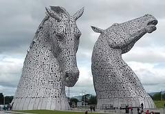 Kelpies (Pauline Deas) Tags: kelpies horses metal sculptures falkirk scottish scotland boat houses