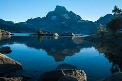 Thousand Island Lake (jennneal818) Tags: ansel adams wilderness yosemite 2016 mount banner lake thousand island california ca hikin hiking backpacking mountain water sunset dusk reflection