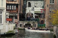 Beloved Brugge (Natali Antonovich) Tags: belovedbrugge brugge bruges belgium belgie belgique tourists travelers spectators architecture canal boat water lifestyle relaxation oldtown oldtime oldworld oldest portrait
