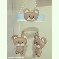 Móbile Ursinhos (mfuxiqueira) Tags: móbile móbiledeberço urso ursinho feltro decoraçãoinfantil decoraçãobebê decoraçãomenino quartobebê quartomenino