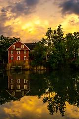 War Eagle Mill at Sunset (Spencer_Doyle) Tags: reflection wareagleriver wareaglemill arkansas landscape canon canoneos1dmarkii canon1740mm wideangle tripod cablerelease sunset