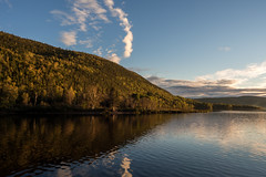 Golden Light on the Fjord (Aymeric Gouin) Tags: canada qubec northamerica saguenay fjord light lumire golden autumn fall automne water eau reflection reflet river rivire nature outdoor landscape paysage paisaje landschaft tree arbre olympus omd em10 aymgo aymericgouin travel voyage