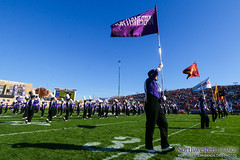 Purple Banner Waving High (NUbands) Tags: b1gcats chicago dmrphoto evanston illinois numb northwestern northwesternuniversity northwesternuniversitywildcatmarchingband band marchingband music students