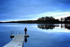End of the day. Blue time. (bmauviard) Tags: thephotographersclub whatevertheweather colorsoftheworld canondslrusergroup photography sweden canonphotography magicmoments artisticphotography nature amateurs ilovenature flickrnature flickrtodayonlyonepicsaday autumn lakesoftheworld waterwaterwater artphotography beautifullearth bellesprisesdevues goldstaraward natureetpaysages beginingphotographerslearning bluehour water flickrunofficial canoneos70dofficialgroup