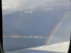 Getting to Malaga (Micheo) Tags: spain rainbow arcoiris malaga costa avin plane window