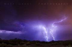 Electricity (Matt Grans Photography) Tags: monsoon arizona lightning lightening storm clouds thunder desert night