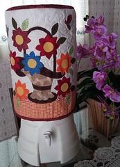 Mais Trabalhos (Cleide Patch e Afins) Tags: capadebombona capa bombona passarinho casa de celular flores tablet borboletas corao