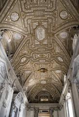 Long Hallways (noname_clark) Tags: italy rome vacation honeymoon vatican basilica hall ceiling
