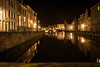 Le silence de la nuit / The Silence of the Night (Gilderic Photography) Tags: bruges belgium belgique belgie canal water reflection lights silence city canon 500d gilderic