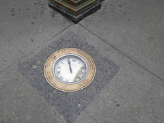 William Barthmans Clock in the Pavement Corner of Maiden Lane and Broadway. Downtown Historic New York November 2016 (50) (Richie Wisbey) Tags: new york famous clock sidewalk path barthmans jewellers watches ida wyman photograph 2016 november richard wisbey