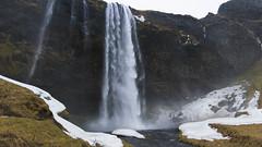 storm-whipped Seljalandsfoss (lunaryuna) Tags: iceland southiceland landscape waterfall seljalandsfall storm wind snow rockface water cascading winter season seasonalwonders lunaryuna