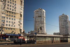 A Weekday in Maryno (Wholesale of Void) Tags: moscow moscowcity november winter daylight sunlight clearsky road traffic skyine cityscape maryno residential residentialdistrict blue sky urban street marynodistrict