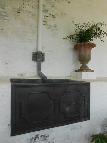 Powis Castle. Lead water cistern in orangery.