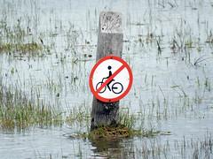 and definitely not here either! (Antropoturista) Tags: thenetherlands kennemerland semiotics red circle biker divertido fun