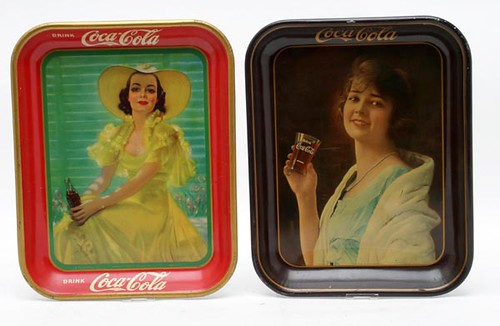 Coca-Cola Advertising Trays ($380.80 each)