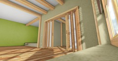 Greendy (Soyer Roussell) Tags: green skybox sanarae runic design soyer roussel roussell strucutre build house home room living loft attic structure mesh 3d blender second life game parquet wood store furniture private decor mewz