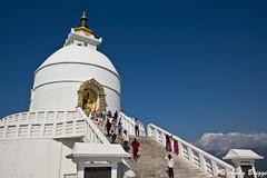 Pokhara Stupa and Annapurna Massif (Pandster1981) Tags: a77 annapurna buddhism honeymoon nepal pokhara sigma1020mmf35exdchsm sonya77 stupa worldpeacepagoda