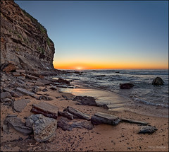 Welcome, my sun (JustAddVignette) Tags: australia basinbeach beach dawn early headland landscapes monavale newsouthwales northernbeaches ocean rocks sand seascape seawater sky sunrise sydney water