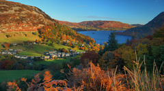 Ullswater Morning View (Andy Watson1) Tags: ullswater view morning glenridding lake district national park cumbria keldas golden hour autumn autumnal fall colour colours forest woodland woods trees tree sky blue water grass green red orange yellow light shadow early england english uk united kingdom great britain british scenery scenic landscape countryside bracken mountain mountains fell fells canon 70d sigma fields nature november farm travel trip walking walk hike hiking