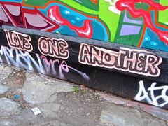 Love One Another, San Francisco, CA (Robby Virus) Tags: sanfrancisco california sf ca street art love one another paste pasted wheatpaste