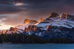 Sidelight (hammockbuddy) Tags: ifttt 500px canada landscape sunrise forest winter reflection light glow snow mountain dawn photography telephoto alberta national park banff alpine long exposures sidelight lens mount rundle two jack lake north america everlook nisi filters nisifilters longexposures mountrundle nationalpark twojacklake