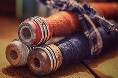 Vintage Sewing Bobbins (amarilloladi) Tags: vintagespools spools vintagebobbins thread bobbins sewing antique vintage
