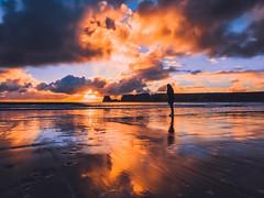 Wild Coast (ThibaultPoriel) Tags: bretagne sunrise sun sea seascape clouds reflection travel olympus