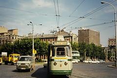 Motorbike trip to Madrid, 1972 (peterwhite12) Tags: france spain roadtrip tram saragossa