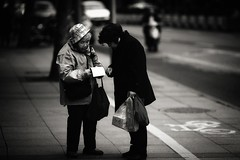 Street scene Shanghai (jsvamm) Tags: ifttt 500px china shanghai black white street young old photography people day beauty