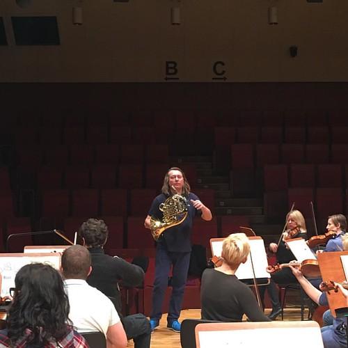 #Rehearsal #Horn #concert for 2.12.2016 #DariuszMikulski #Conductor & #Soloist #FilharmoniaDolnoslaska #JeleniaGora #Hirschberg #NiederschlesischePhilharmonie #Mozart #LaClemenzaDiTito #HornConcert #Beethoven #Sinfonie No 5