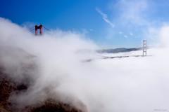 [Dancing, Surround the Golden Gate] (miltonsun) Tags: lowfog goldengatebridge sanfrancisco bay ngc bayarea wave ocean california westcoast bridge pacificocean rollinghills landscape clouds sky seaside outdoor