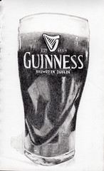 Guinness (lwdphoto) Tags: lance duffin lanceduffin beer glass pub guinness stout drawing graphite sketch art