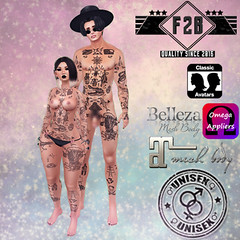 FTB - Tattoo & Appliers: Full Body ~ Bits & Pieces (NEW) (Bug.Katey) Tags: tattoo fade2black unisex male female appliers maitreya omega belleza classic vintage bits pieces