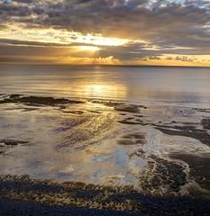 Gigantic (pauldunn52) Tags: beach sunset clouds wet sand rocks bristol channel traeth mawr glamorgan heritage coast wales