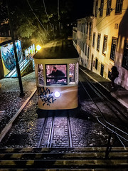 funicular (Dale Michelsohn) Tags: lisbon lisboa portugal tram funicular transport street dalemichelsohn iphone apple