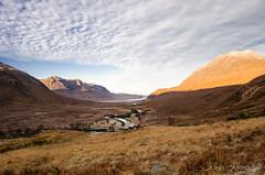 Wester Ross (creyala) Tags: wester ross scotland sunrise sun view landscape mountain mountains clouds river glen sky wonderland swamps wetlands highlands lightroom nikon d7000