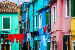 Colourful Burano (fede_gen88) Tags: pink blue venice italy colors buildings nikon colorful europe italia colours clothes laundry colourful venezia burano veneto d5100