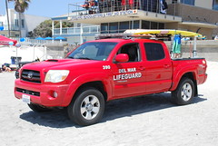Del Mar Lifeguard (So Cal Metro) Tags: beach sandiego pickup lifeguard toyota tacoma delmar