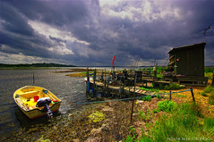Fisherman's Cottage (Little♥Krawler) Tags: summer sky nature clouds denmark boot boat fishing sommer natur cottage balticsea dänemark ostsee