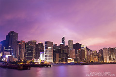 Sunset in Hong Kong with office buildings background (Jess Yu) Tags: china city travel light sunset sea vacation sky urban holiday building tower tourism glass beautiful beauty skyline architecture modern night skyscraper port landscape asian hongkong harbor pier office colorful asia downtown neon ship cityscape view harbour dusk background chinese peak landmark scene business busy metropolis tall kowloon economy cloudscape finance