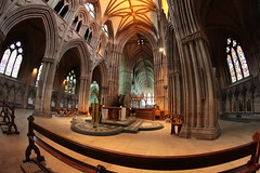 Lichfield Cathedral (18mm & Other Stuff) Tags: from uk england st by architecture canon for was site cathedral chad roman faith mary year scene it fisheye when gb were their dedicated 8mm christians invaders visited litchfield extract executed 669 established martyrdom 600d samyang stchad 8mmmonday20th 8mmotherstuff enwikipediaorgwikilichfieldcathedral