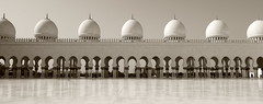 Sheikh Zayed Grand Mosque Centre Abu Dhabi (Ben Colorblind) Tags: monochrome sepia architecture united uae mosque arabic emirates abudhabi arab unitedarabemirates sheikhzayed