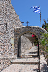 (billy.tromeros) Tags: summer hellas elias holy santorini greece monastery prophet entrace