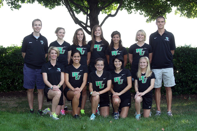 The Wilmington University women's cross country team. Copyright 2013; Wilmington University. All rights reserved.