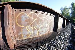 Tase (NJphotograffer) Tags: new railroad bridge graffiti nj rail beam jersey graff tase trackside fasq
