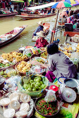 Floating Market (rachelletanphotography) Tags: road camera family pink blue light sky food sun motion colour cute art nature water fruits beautiful canon river studio fun thailand photography eos student movement pretty shoot artist colours photographer view photoshoot bright market outdoor bangkok vibrant culture experiment fast photograph journey thai environment colourful dslr capture dynamics bkk floatingmarket eos7d canoneos7d