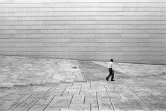 (Synthesis of classic forms) Tags: bw house lines oslo norway analog nikon opera geometry smooth direction human geomtry