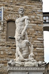 Sculpture Hercules and Cacus by Bandinelli (LYSVIK PHOTOS) Tags: travel italy sculpture man male art heritage history tourism monument statue naked nude greek florence artwork ancient image symbol artistic roman body famous burly culture landmark historic tuscany strong firenze strength marble nudity tamron corpus cosimo mythology renaissance medici hercules cultural hefty piazzadellasignoria cacus palazzovecchio muscled potency robust mythic 2470f28 bandinelli herculesandcacus d700 nikond700 sp2470mmf28divcusd tamronsp2470mmf28divcusd tamron2470f28