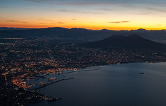 Napoli Dawn (Denis Roschlau Photography) Tags: italy sunrise dawn volcano aerial napoli naples dämmerung overview neapel vulkan bucht