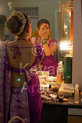 Getting ready (keyaart) Tags: india men women dancers folk mumbai lavani